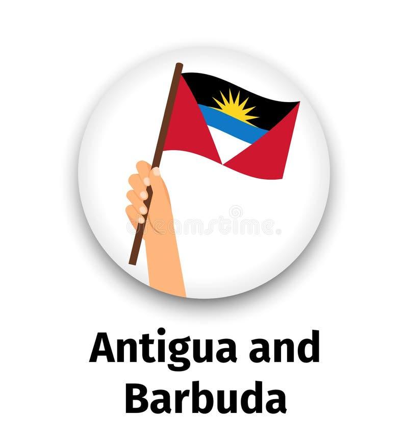 Drapeau de l'Antigua-et-Barbuda disponible illustration de vecteur
