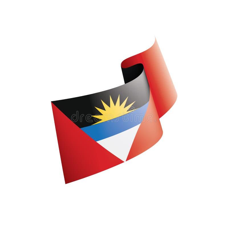 Drapeau de l'Antigua-et-Barbuda, illustration de vecteur sur un fond blanc illustration libre de droits