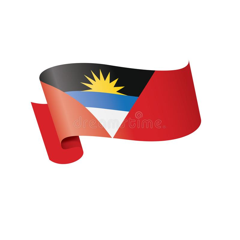 Drapeau de l'Antigua-et-Barbuda, illustration de vecteur sur un fond blanc illustration stock