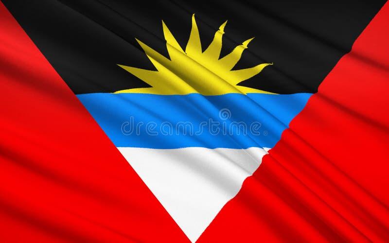Drapeau de l'Antigua-et-Barbuda, ` s de St John illustration libre de droits