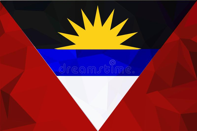 Drapeau de l'Antigua-et-Barbuda de vecteur, illustration de drapeau de l'Antigua-et-Barbuda, image de drapeau de l'Antigua-et-Bar illustration de vecteur