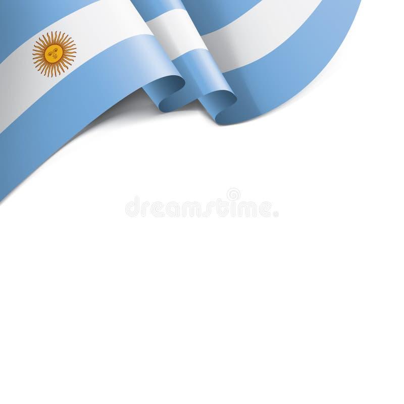 Drapeau de l'Argentine, illustration de vecteur sur un fond blanc illustration stock