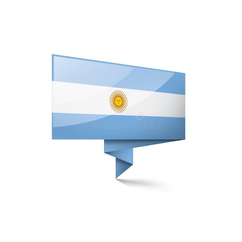 Drapeau de l'Argentine, illustration de vecteur sur un fond blanc illustration libre de droits