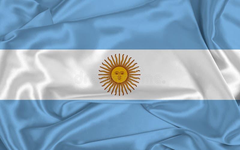 Drapeau de l'Argentine de la soie image libre de droits