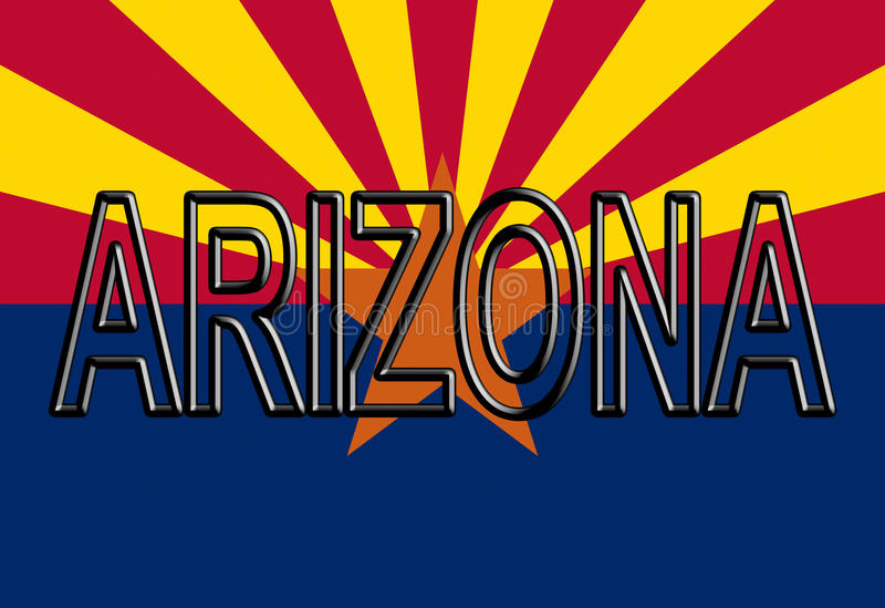 Drapeau de l'Arizona Word illustration de vecteur