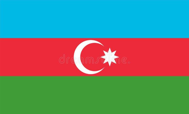 Drapeau de l'Azerbaïdjan illustration stock