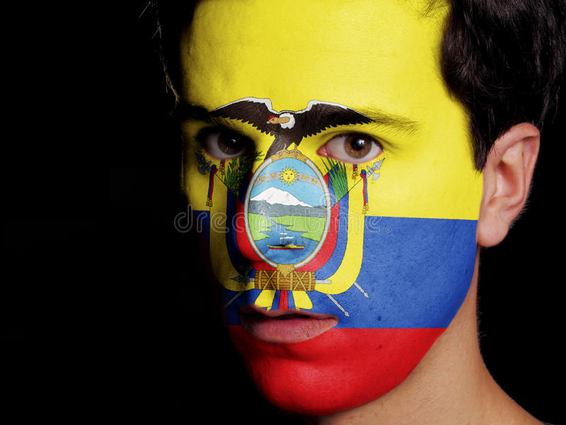 Drapeau de l'Equateur images stock