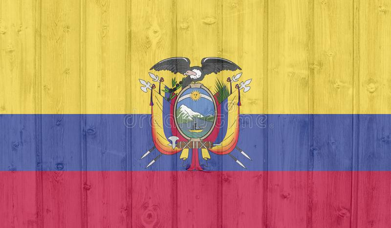 Drapeau de l'Equateur illustration libre de droits