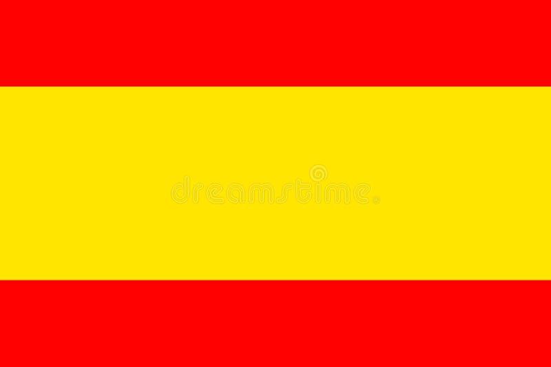 Drapeau de l'Espagne Balayez a peint l'illustration tirée par la main de style de drapeau de l'Espagne avec un effet et une aquar illustration de vecteur