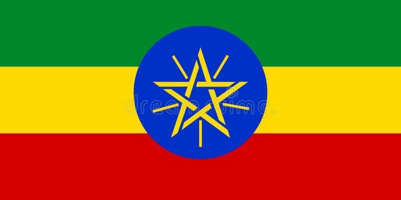 Drapeau de l'Ethiopie illustration stock