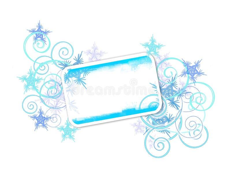 Drapeau de l'hiver illustration de vecteur