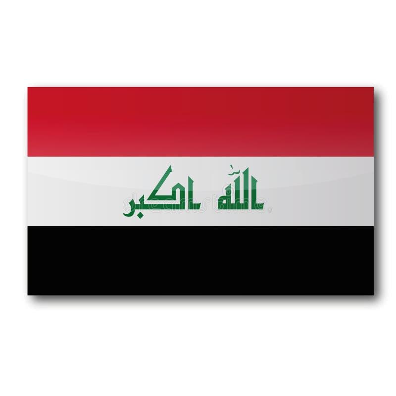 Drapeau de l'Irak illustration libre de droits