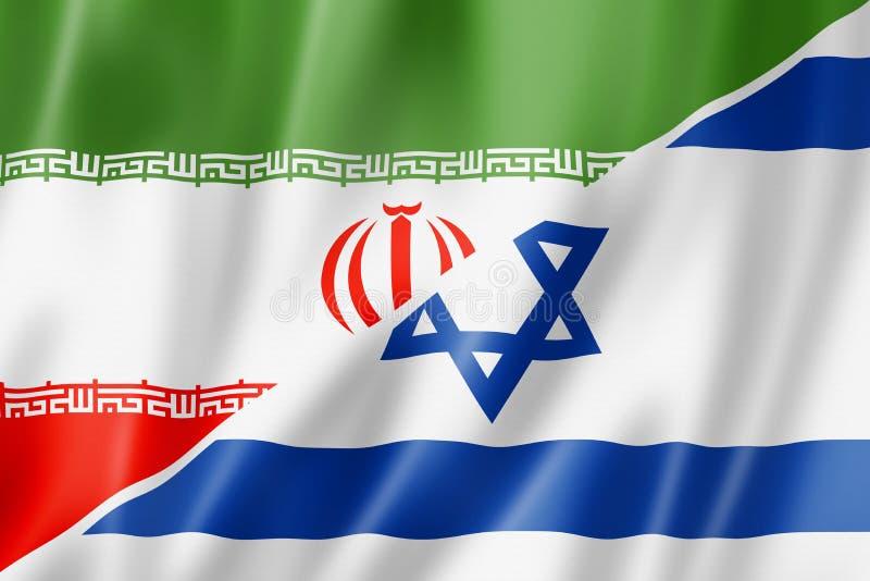 Drapeau de l'Iran et de l'Israël illustration libre de droits
