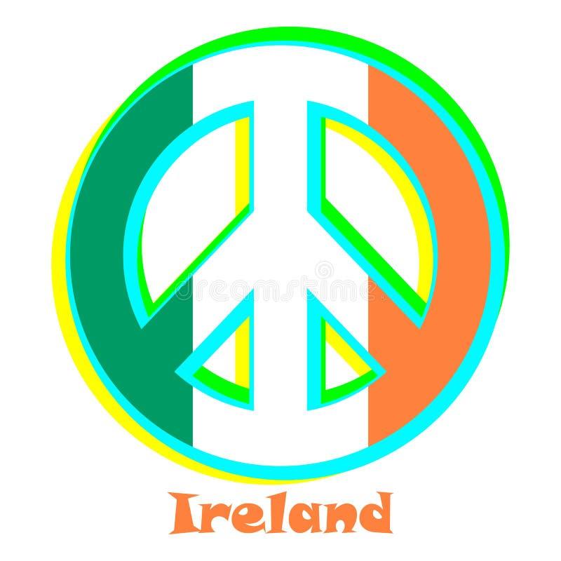 Drapeau de l'Irlande comme signe du pacifisme illustration stock