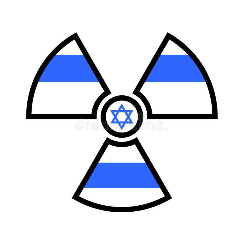 Drapeau de l'Israël comme symbole de rayonnement illustration stock