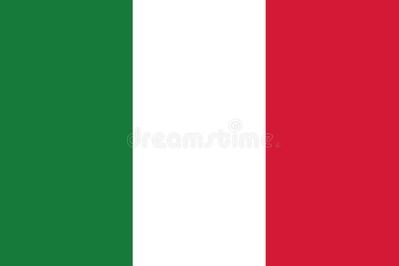 Drapeau de l'Italie illustration stock