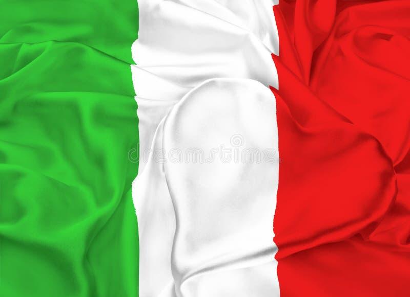 Drapeau de l'Italie, Milan illustration libre de droits