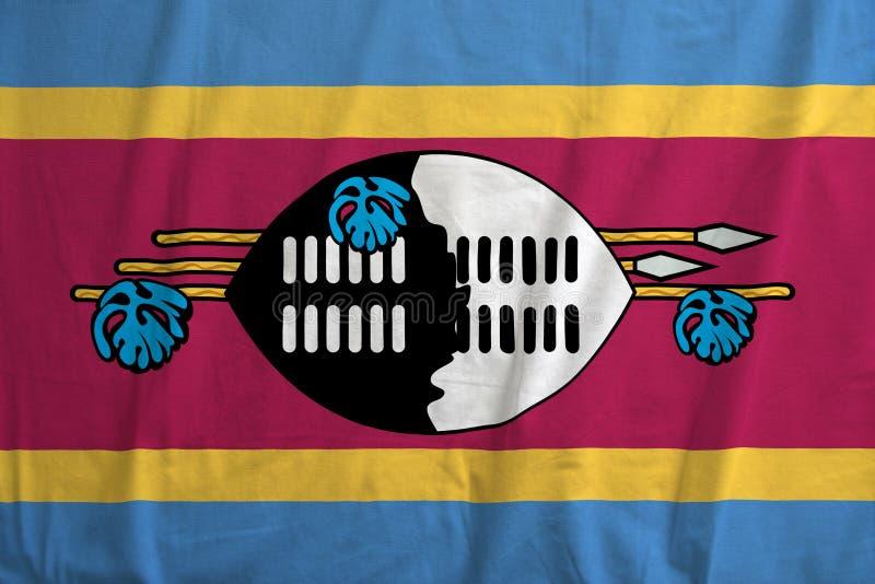 Drapeau de l'ondulation du Souaziland photographie stock