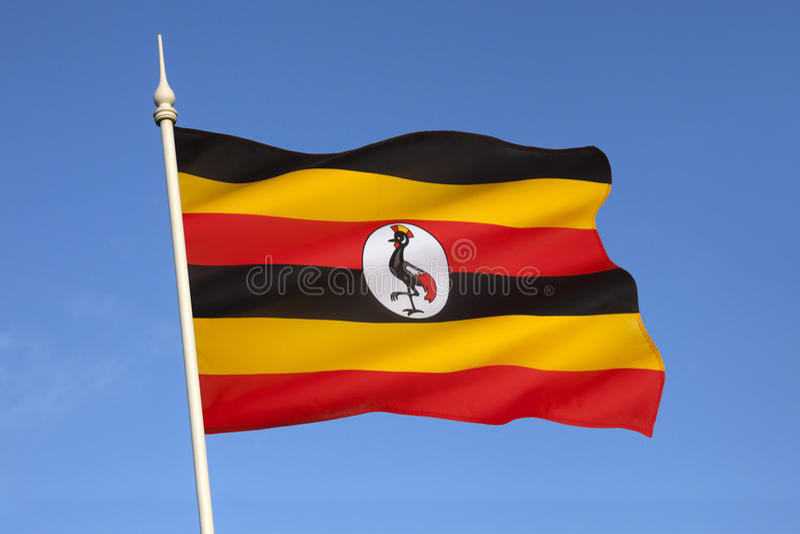 Drapeau de l'Ouganda - l'Afrique images libres de droits