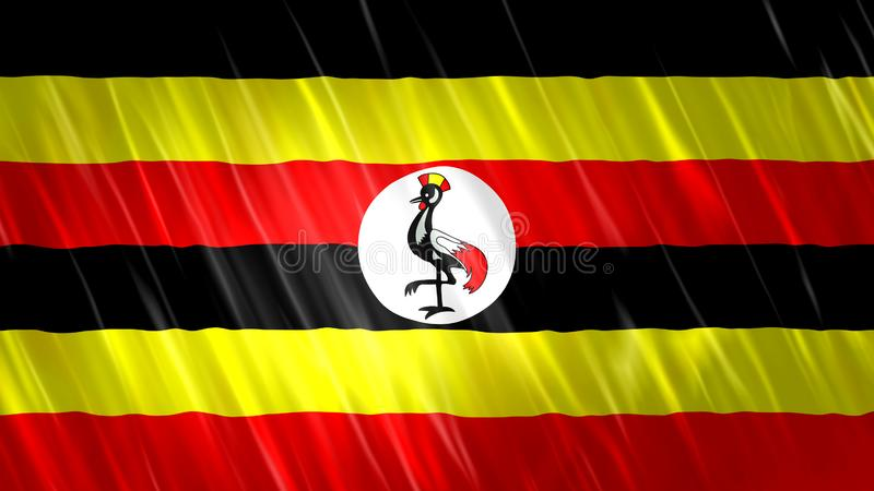 Drapeau de l'Ouganda photo stock