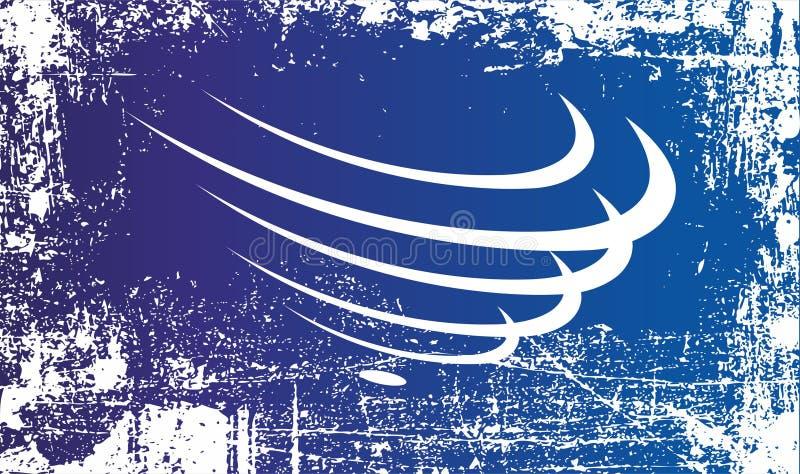Drapeau de l'union des nations sud-am?ricaines Taches sales froissées illustration stock