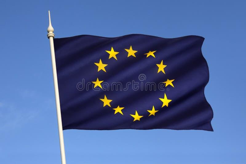 Drapeau de l'Union européenne photographie stock libre de droits