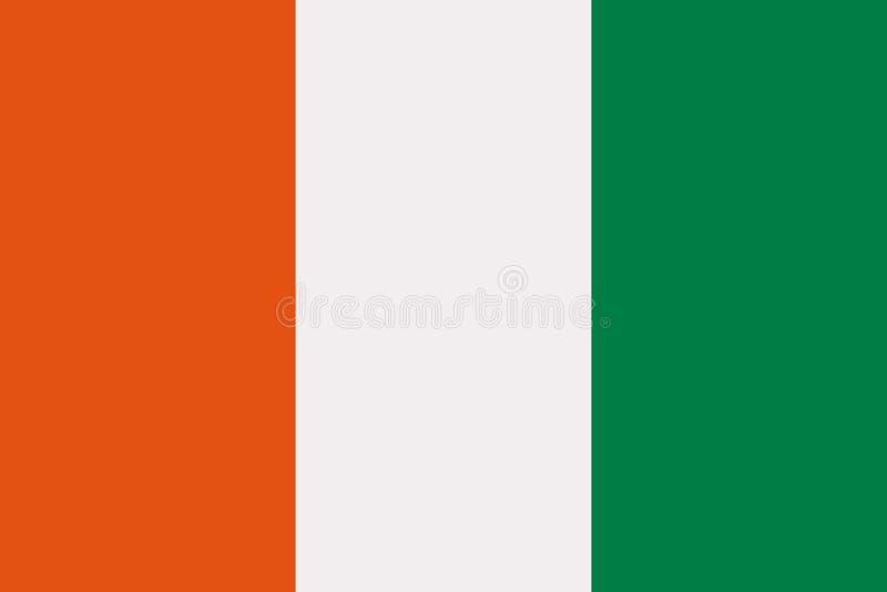 Drapeau de la Côte d'Ivoire illustration libre de droits