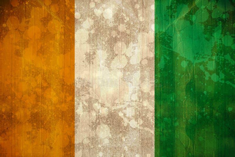 Drapeau de la Côte d'Ivoire dans l'effet grunge illustration libre de droits