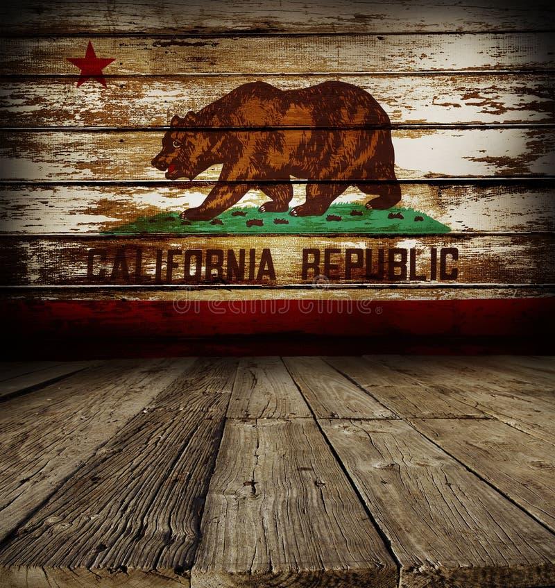 Drapeau de la Californie sur le mur photographie stock libre de droits