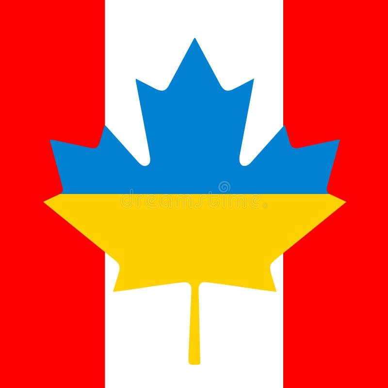 Drapeau de la Canada-Ukraine Amitié illustration libre de droits