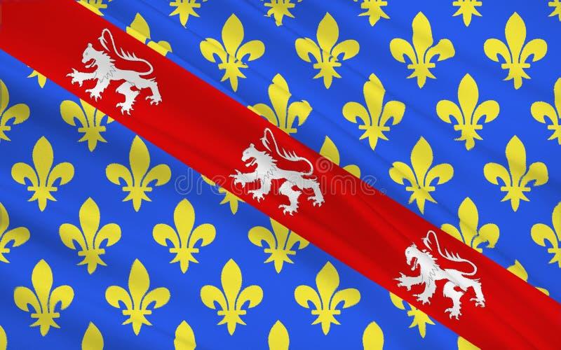 Drapeau de la Creuse image stock