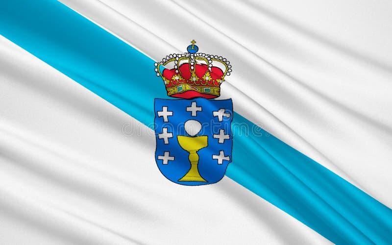 Drapeau de la Galicie, Espagne illustration de vecteur