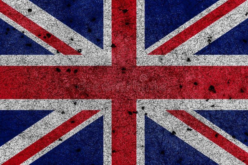 Drapeau de la Grande-Bretagne, connu sous le nom d'Union Jack, peint sur le mur grunge illustration libre de droits