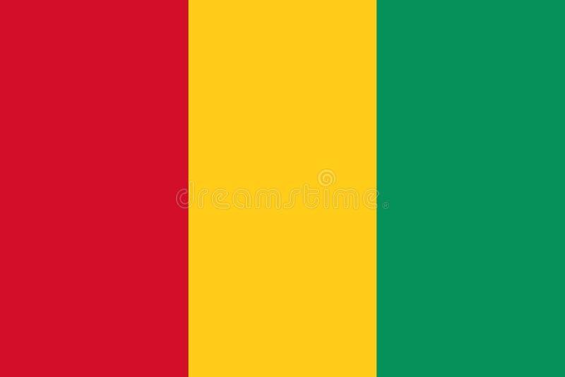 Drapeau de la Guinée illustration libre de droits
