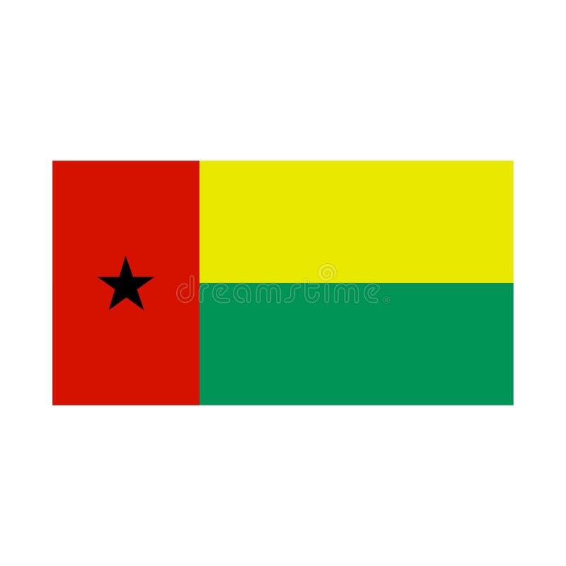 Drapeau de la Guinée-Bissau Fond blanc Illustration de vecteur illustration libre de droits