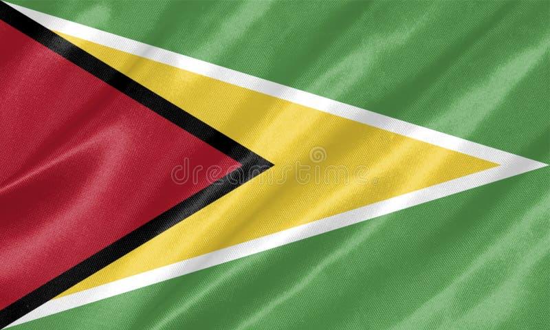 Drapeau de la Guyane illustration libre de droits