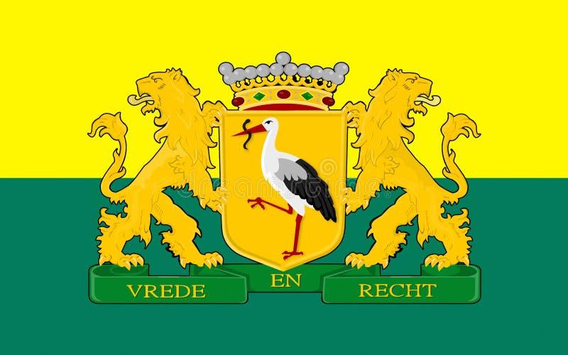 Drapeau de la Haye des Pays-Bas illustration de vecteur
