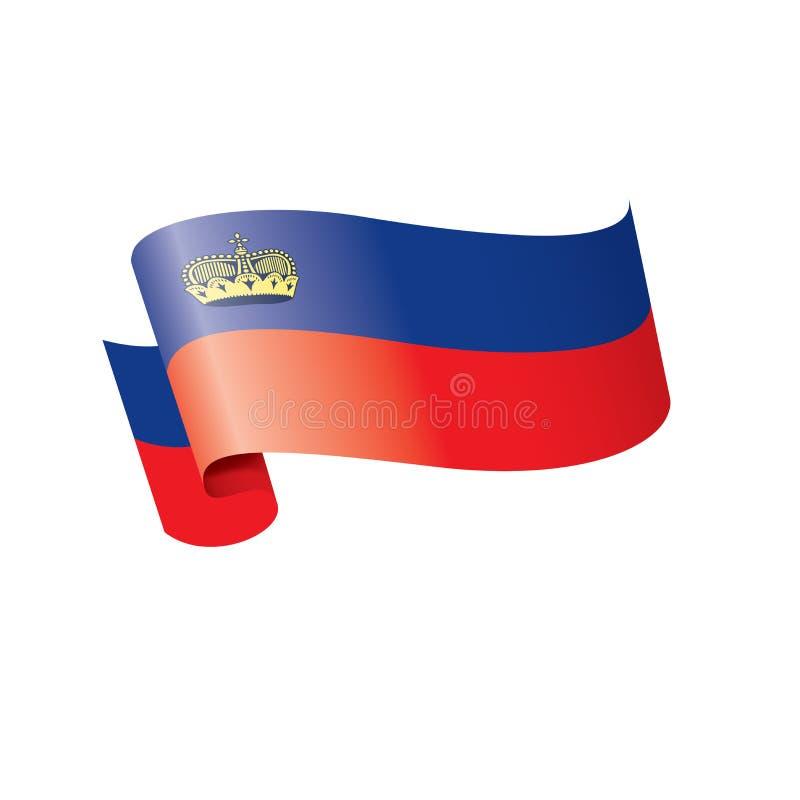 Drapeau de la Liechtenstein, illustration de vecteur sur un fond blanc illustration stock