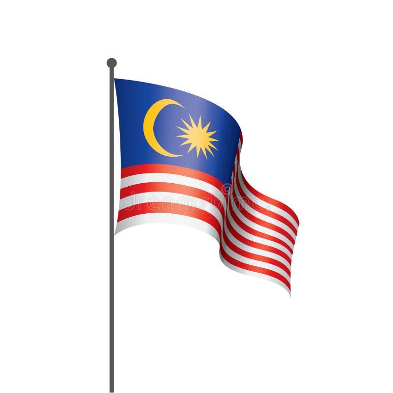 Drapeau de la Malaisie, illustration de vecteur illustration stock