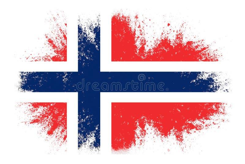 drapeau de la norvège à texture modèle de conception image stock