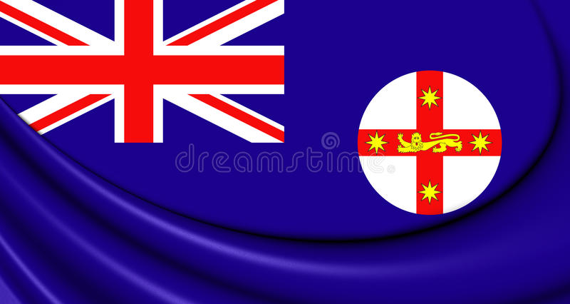 Drapeau de la Nouvelle-Galles du Sud, Australie illustration de vecteur