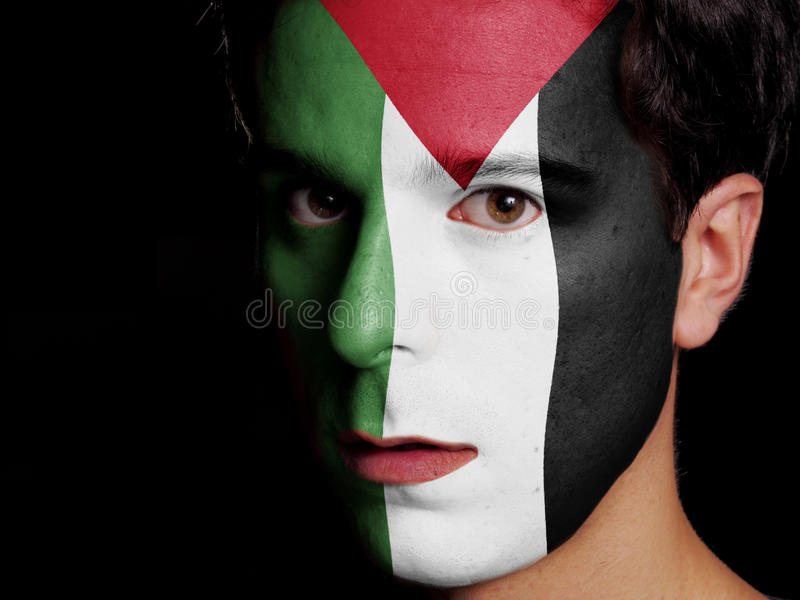 Drapeau de la Palestine photographie stock