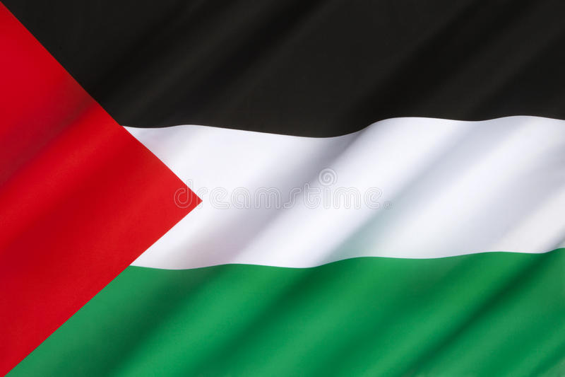 Drapeau de la Palestine photo stock