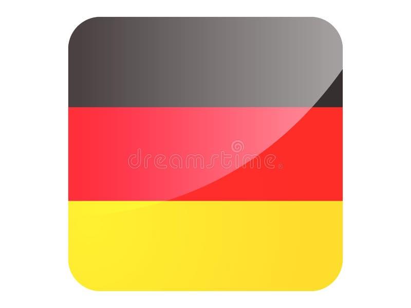 drapeau de la place 3D de l'Allemagne illustration stock