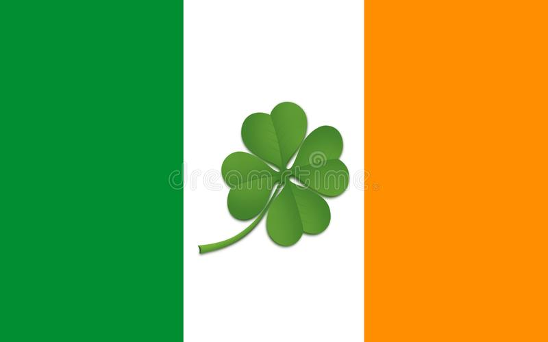 Drapeau de la république d'Irlande illustration de vecteur