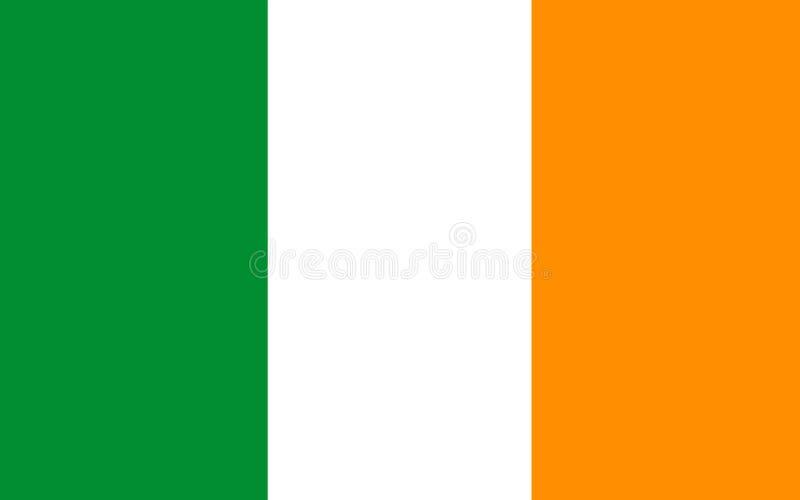 Drapeau de la république d'Irlande illustration libre de droits
