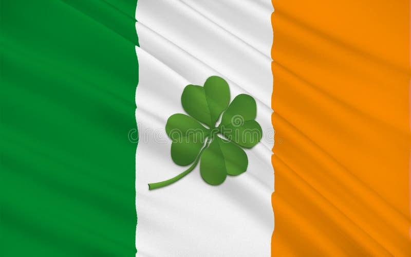 Drapeau de la république d'Irlande illustration stock