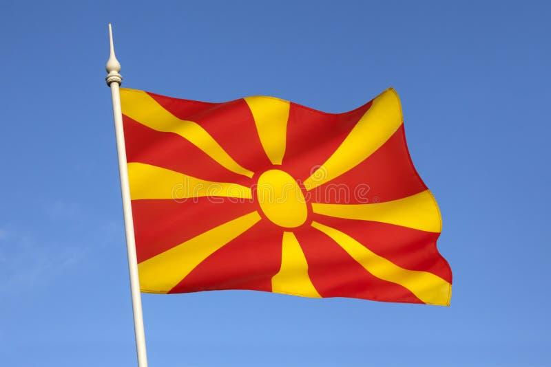 Drapeau de la république de Macédoine - l'Europe photos stock