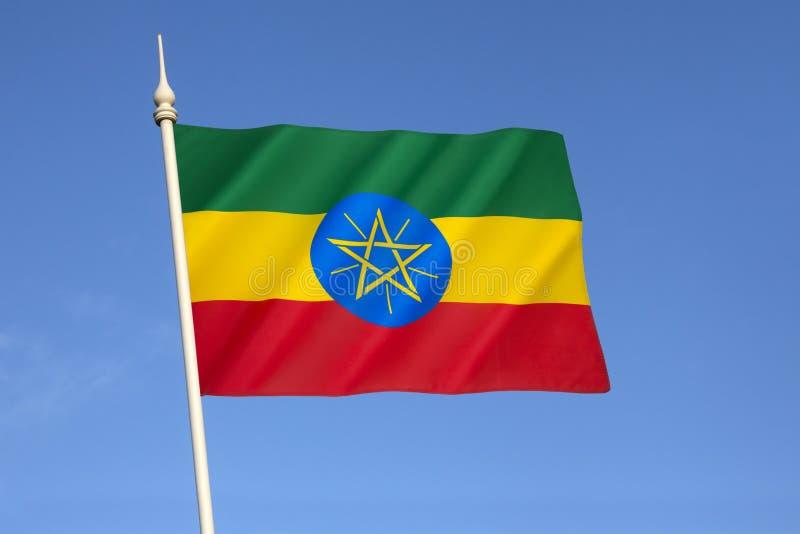 Drapeau de la république Fédérale Démocratique d'Éthiopie photo libre de droits