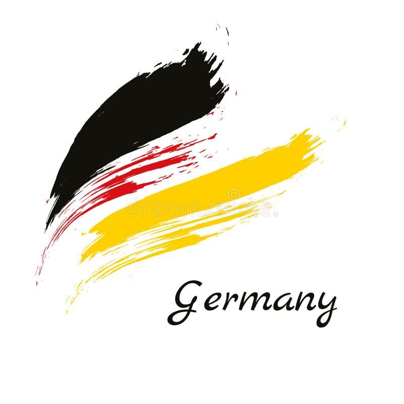 Drapeau de la république Fédérale d'Allemagne, fond de course de brosse illustration libre de droits